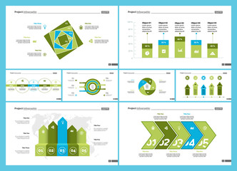 Information chart design set for business presentation concept