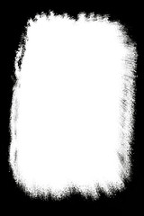 Abstract Decorative Black & White Photo Frame. Type Text Inside, Use as Overlay or for Layer / Clipping Mask