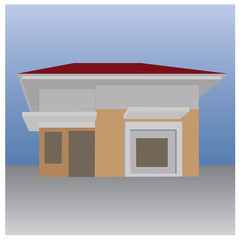 vector illustration of a simple house