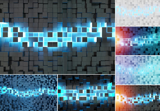 Abstract Cubes Backgrounds