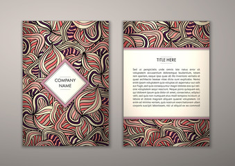 Flyer template with abstract ornament