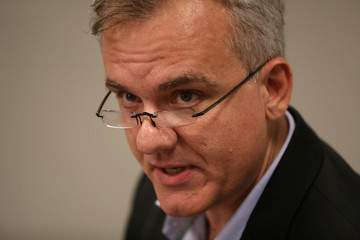 Luciano Siani, Chief Financial Officer of Brazilian miner Vale, speaks during a press conference in Rio de Janeiro