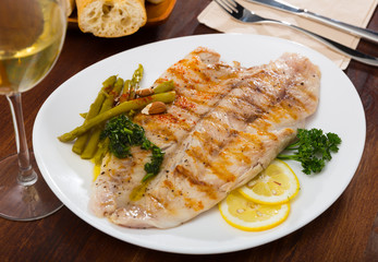 Grilled perch