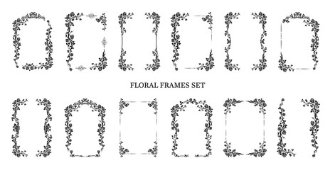 Graphic frames set Wall mural