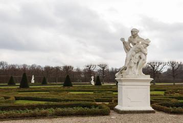 herrenhausen palace gardens statue winter cloudy