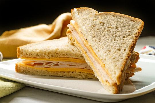 Cheese Turkey Mayonnaise Sandwich