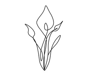 Spring flowers vector illustration.