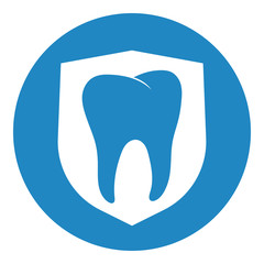 Clean and strong white tooth with shieldClean and strong white tooth with shield
