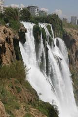 Duden waterfalls on Mediterranean sea coast, Antalya, Turkey