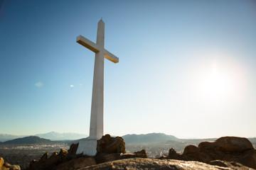 Mountain Top Cross at Sunrise 09