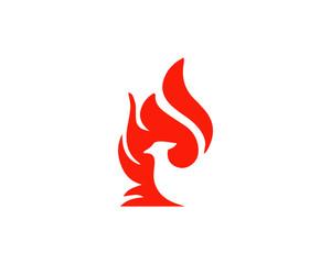 fire, bird, illustration, phoenix,