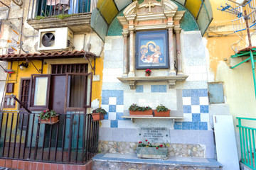 Garden Poster Napels Altar of Saint Anne in Naples, Italy.