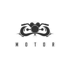 Old Motorcyle Logo.