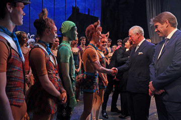 Britain's Charles, the Prince of Wales, attends the world premiere of the ballet, The Cunning Little Vixen, in honour of his 70th birthday