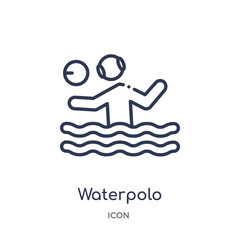 waterpolo icon from sports outline collection. Thin line waterpolo icon isolated on white background.