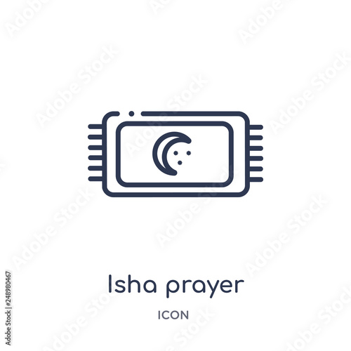 isha prayer icon from signs outline collection  Thin line