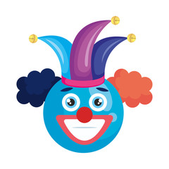 happy face with joker hat emoticon