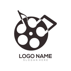 Film entertainment and video logo and icon design