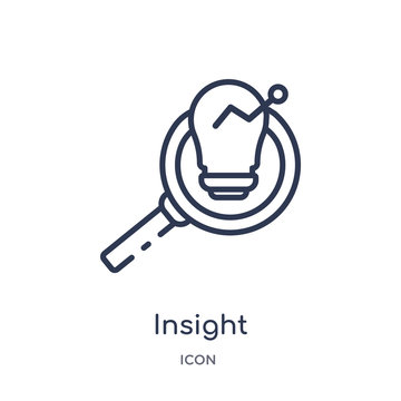 insight icon from security outline collection. Thin line insight icon isolated on white background.