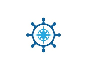Steering ship icon illustration