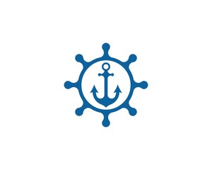 Steering ship icon illustration