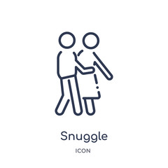 snuggle icon from people outline collection. Thin line snuggle icon isolated on white background.
