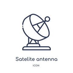 satelite antenna icon from other outline collection. Thin line satelite antenna icon isolated on white background.