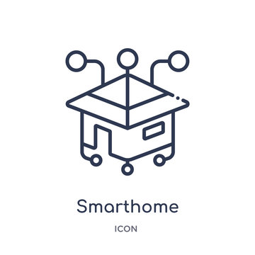 smarthome icon from other outline collection. Thin line smarthome icon isolated on white background.