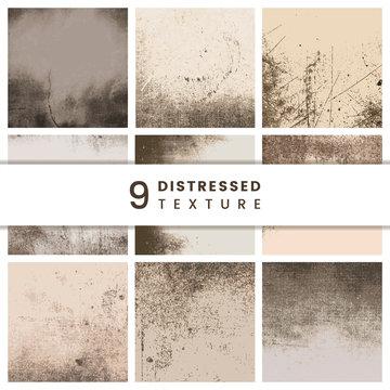 Beige distressed patterns set