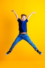 funny jumping boy
