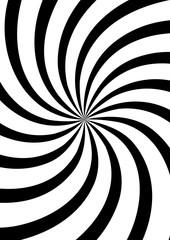 Swirl background, monochrome poster design template, vector illustration