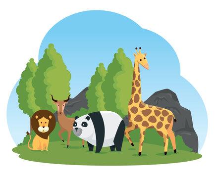 natural safari reserve to wild animals