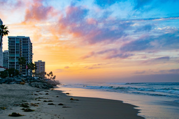 Canvas Prints Lavender Pink and Yellow Sunrise in Coronado, CA