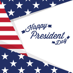 President day banner with text. Vector illustration design