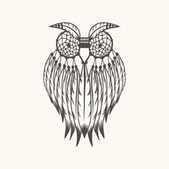 Dreamcatcher owl vector illustration