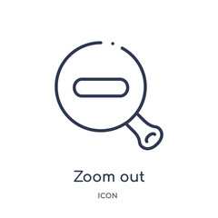 zoom out icon from user interface outline collection. Thin line zoom out icon isolated on white background.
