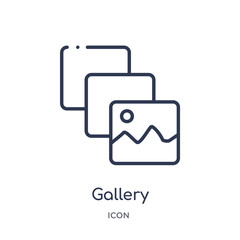 gallery icon from user interface outline collection. Thin line gallery icon isolated on white background.