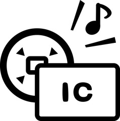 ICカードの端末へのタッチ