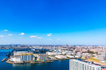 (千葉県ー湾岸風景)展望台から望む千葉港3