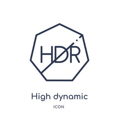 high dynamic range imaging icon from ultimate glyphicons outline collection. Thin line high dynamic range imaging icon isolated on white background.