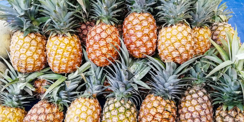 stack of pineapples, order, pile