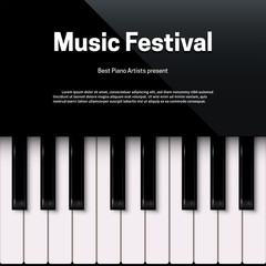 Music festival poster template with text space