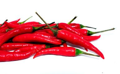 hot chili pepper on white background - popular fruit