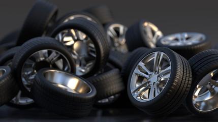 tire auto cast