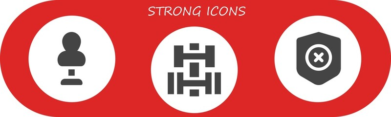 strong icon set