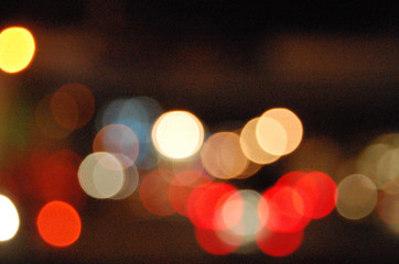 red and yellow abstract blurred glowing lights of different colors