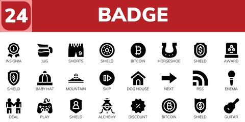 badge icon set
