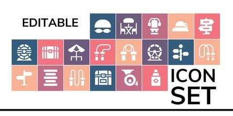 editable icon set