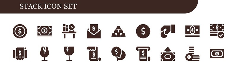 stack icon set