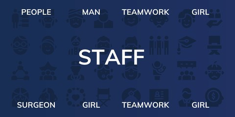 staff icon set